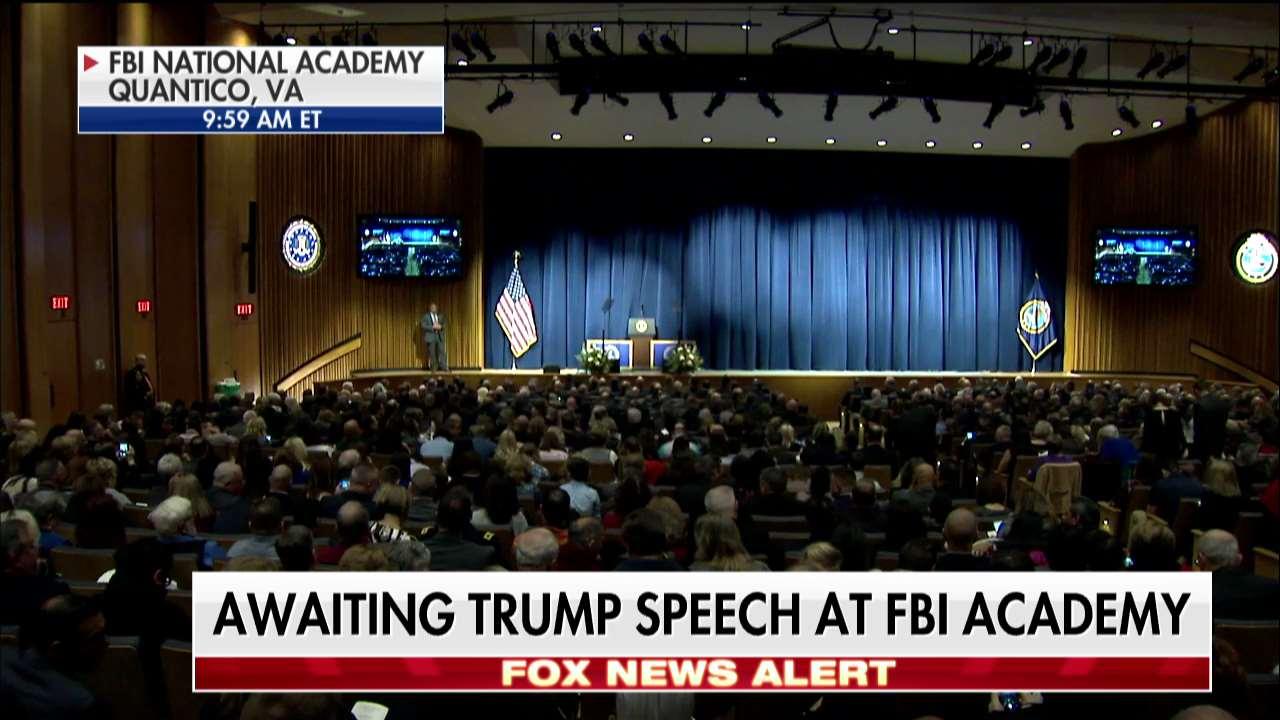 News Alert: Awaiting @POTUS speech at @FBI Academy. https://t.co/0pX3i3t4G9