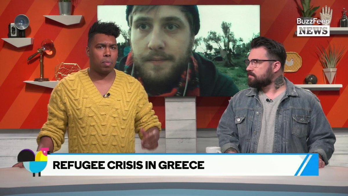 RT @AM2DM: Riot squads shoot tear gas at refugees at the Moria camp in Greece, @broderick reports on #AM2DM https://t.co/Rc511P1lTb