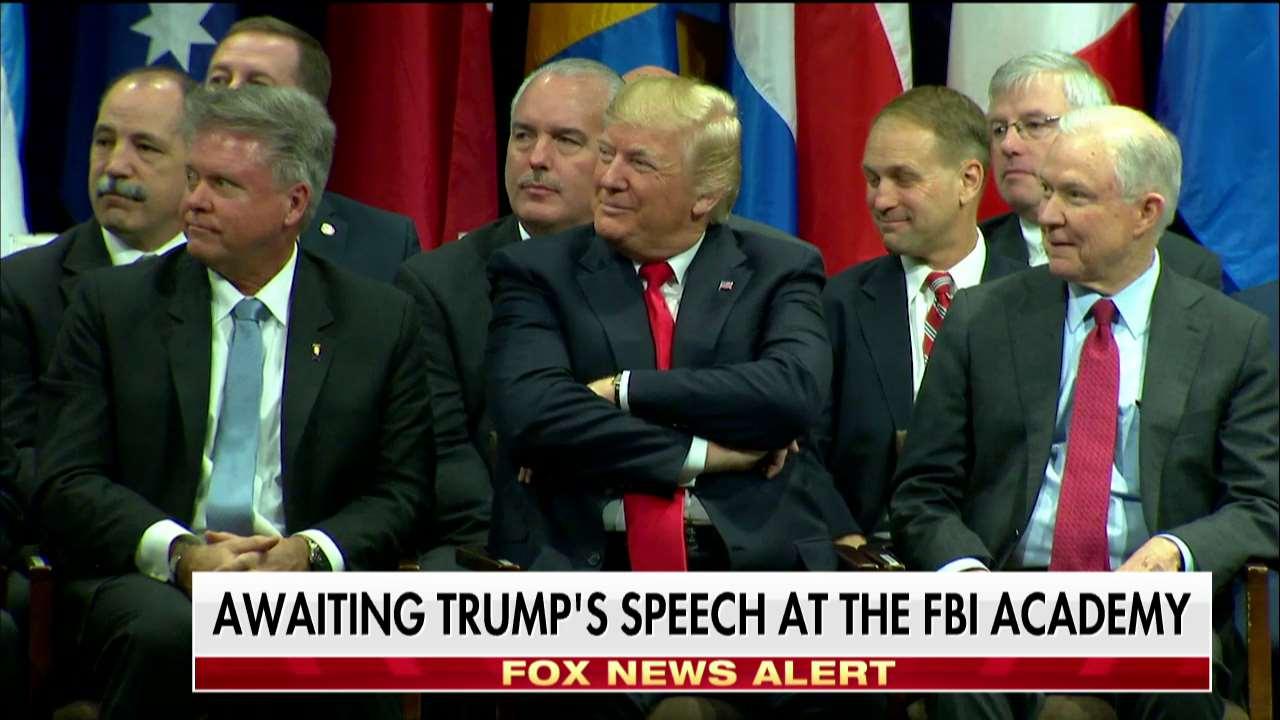 Awaiting @POTUS speech at @FBI Academy. https://t.co/kI4YI6Igze