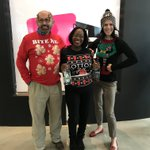 Did someone say it was #NationalUglyChristmasSweaterDay? This is just what we were already wearing to work... https://t.co/Erf1BL2bqi