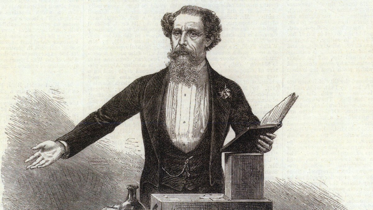Charles Dickens once gave an epic reading of 'A Christmas Carol' in Boston