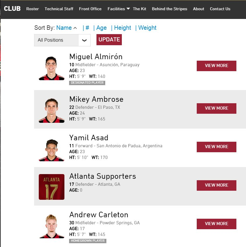 I have a completely irrational hatred for Atlanta United's roster page on their website. https://t.co/MNdd1NQsuf