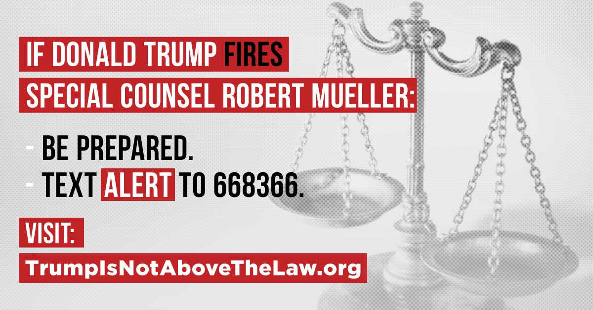 RT @San_Resists: 📲Text ALERT to 668366📲  If Mueller is fired we must mobilize 💥💥💥💥💥💥💥💥💥💥💥💥💥 https://t.co/oYsvEIuEmv