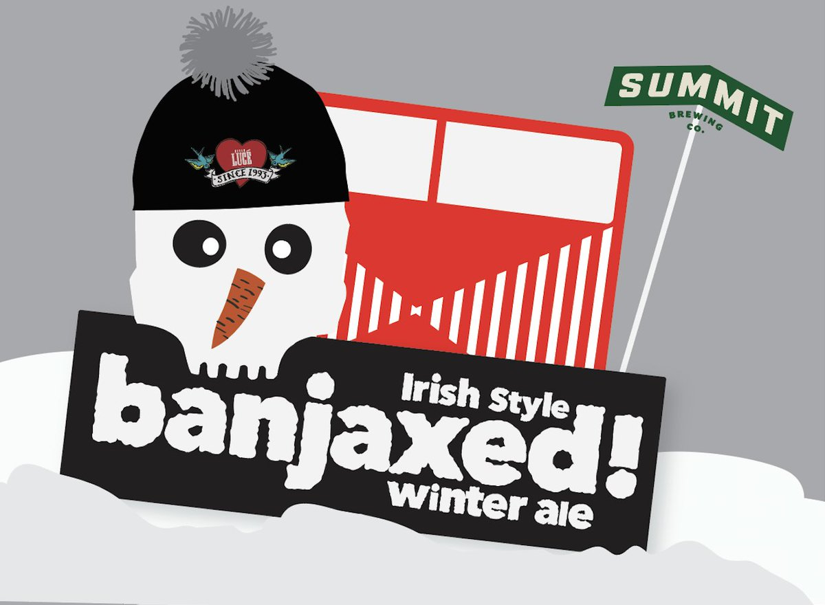Summit Banjaxed is an Irish-Style Winter Ale made by an American brewery specifically for an Italian eatery (the legendary @PizzaLuce). Sounds wacky but it works.  https://t.co/FyVv4Qn1LG https://t.co/Lq15EWVenS