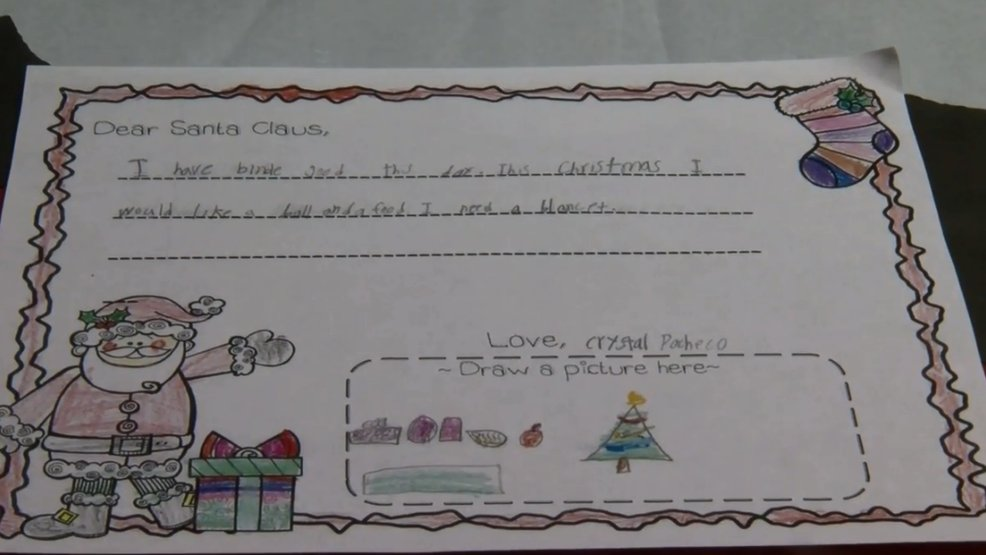 Donations pour in after 7-year-old's letter to Santa goes viral (KGBT) https://t.co/0fVXqXVdr4 https://t.co/yxVzw9I7NJ