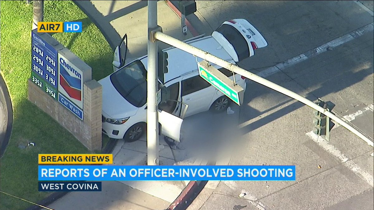 West covina officer-involved shooting: burglary suspect in unknown