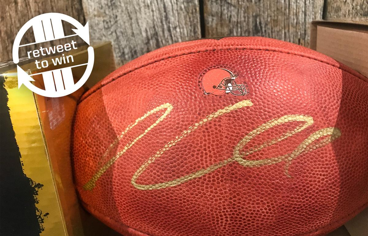 �� RETWEET and FOLLOW for a chance to win this signed Isaiah Crowell football! ��  Rules: https://t.co/Ivi1Lwjo6n https://t.co/Xqja3nXwFA
