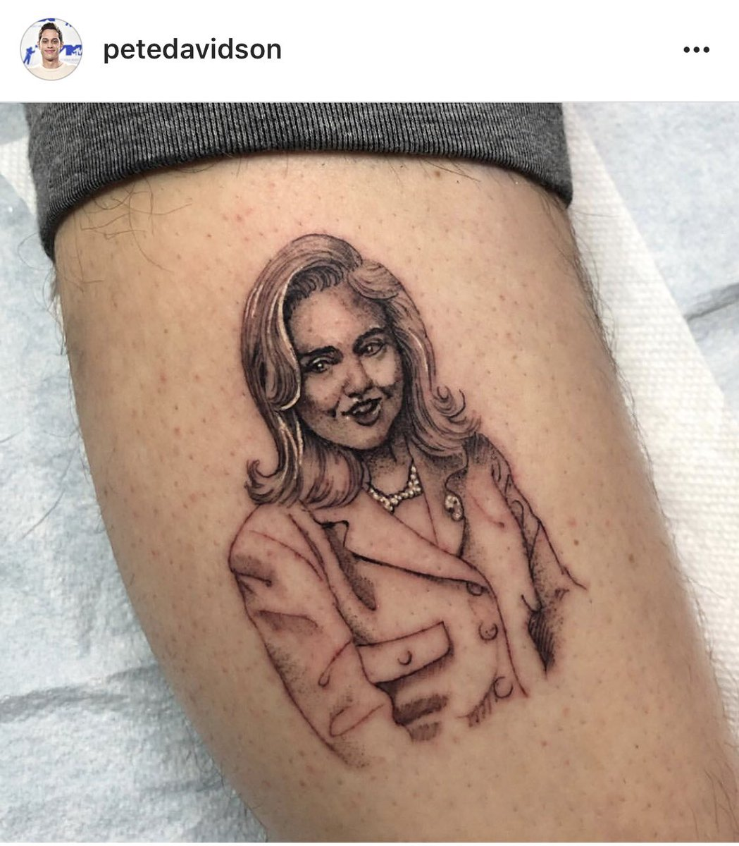 RT @JillianSed: Hillary Clinton responded to Pete Davidson's tattoo of her face and I think Pete's dead now. https://t.co/Bisq3wKMSv