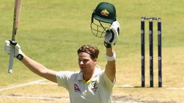 Aussie captain Steve Smith hits ton against England