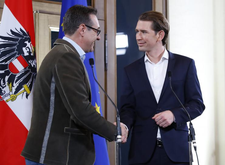 Kurz's Austrian conservatives bring far right into government