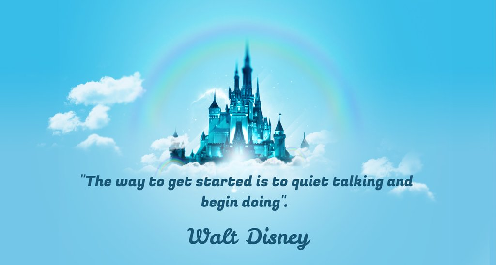 """The way to get started is to quiet talking and begin doing"". Walt Disney [1936x1037] https://t.co/8NoZxeKXA6"