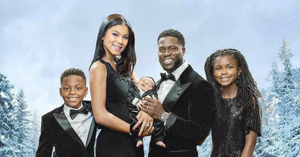 Kevin Hart's family Christmas card will be coming soon to a theater near you: