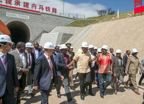 President Uhuru inspects SGR tunnel, the second longest railway tunnel in Africa
