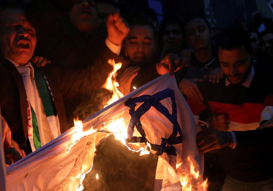 Envoy to Berlin urges Germany to outlaw burning of Israeli flag