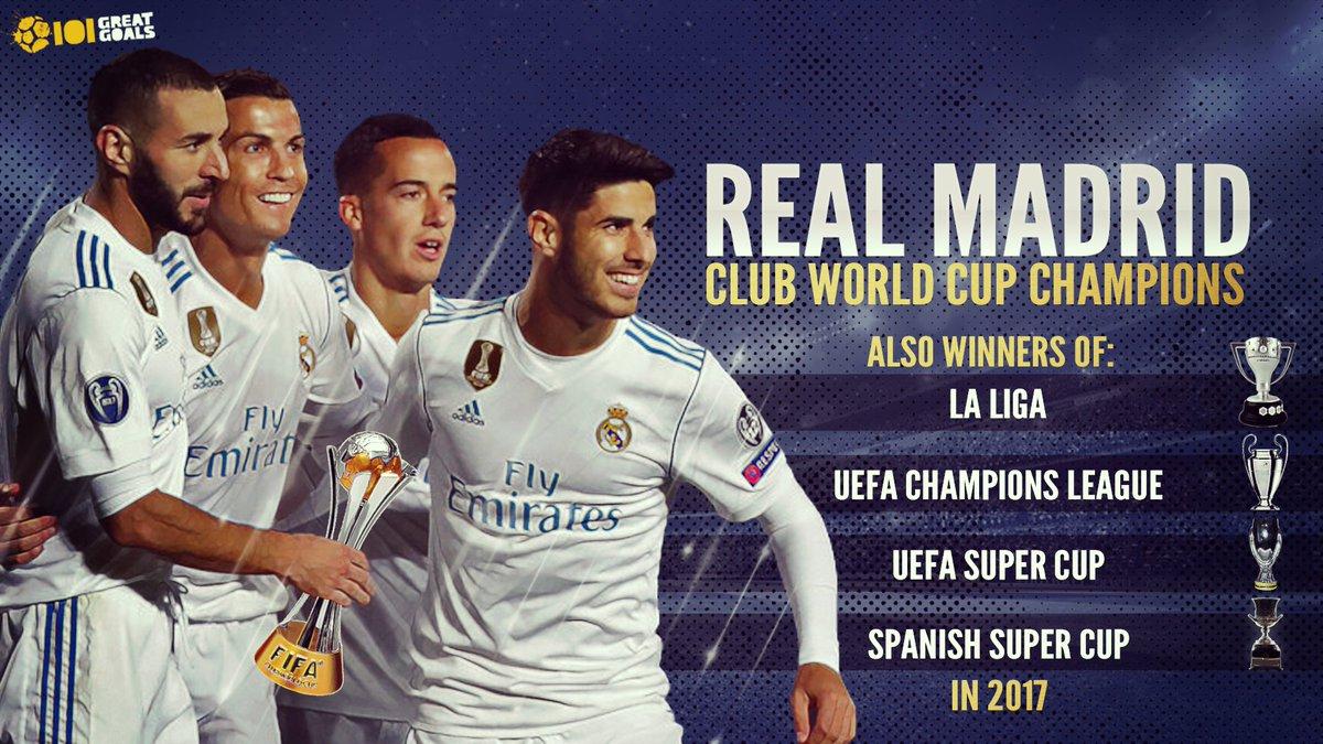 Real Madrid: Club World Champions again!!  🎉🎉🎉  👏👏👏 https://t.co/04XvZZHWEH
