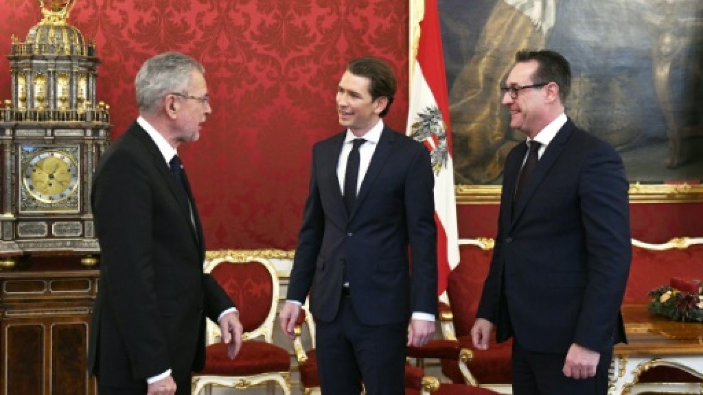 'Nothing to fear' as Austrian far-right enters government