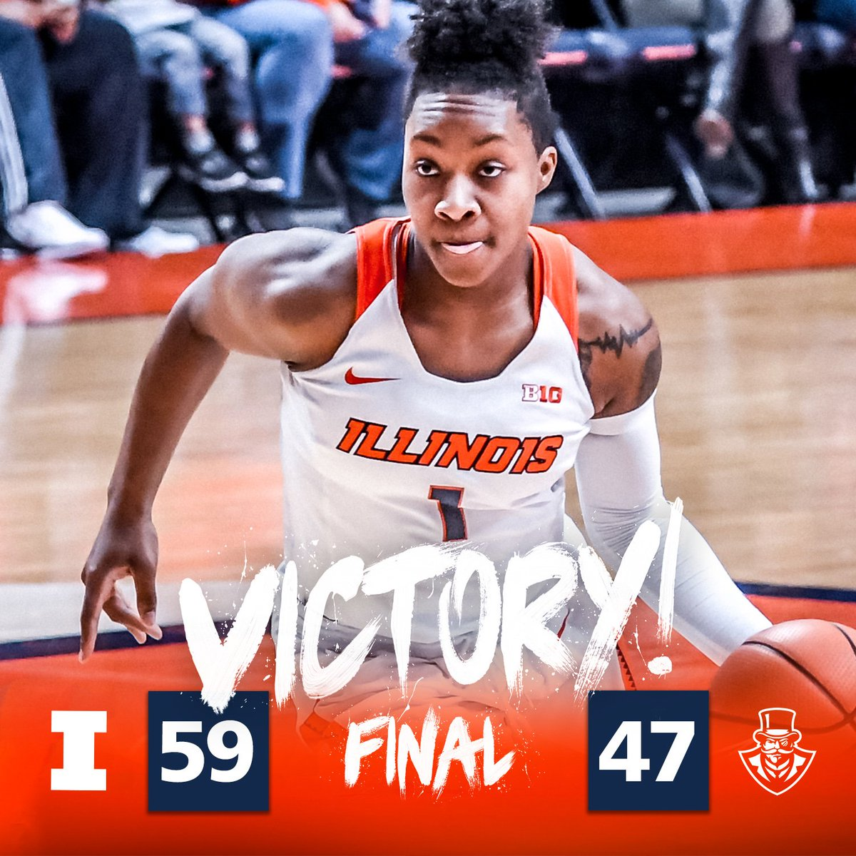 RT @IlliniWBB: That's an #ILLINI WIN!   Illinois improves to 9-4 on the season with today's 59-47 win over Austin Peay! https://t.co/fz27Jz…