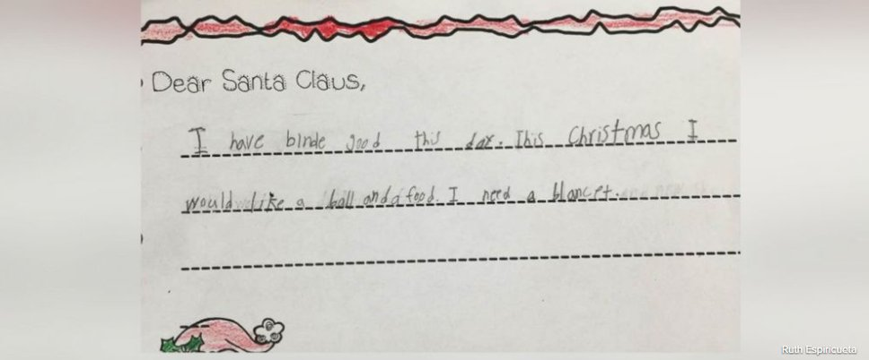 1st grader asks for food, blanket in heartbreaking letter to Santa. https://t.co/xyUGaeE9Kb https://t.co/cdpTrPhSk4