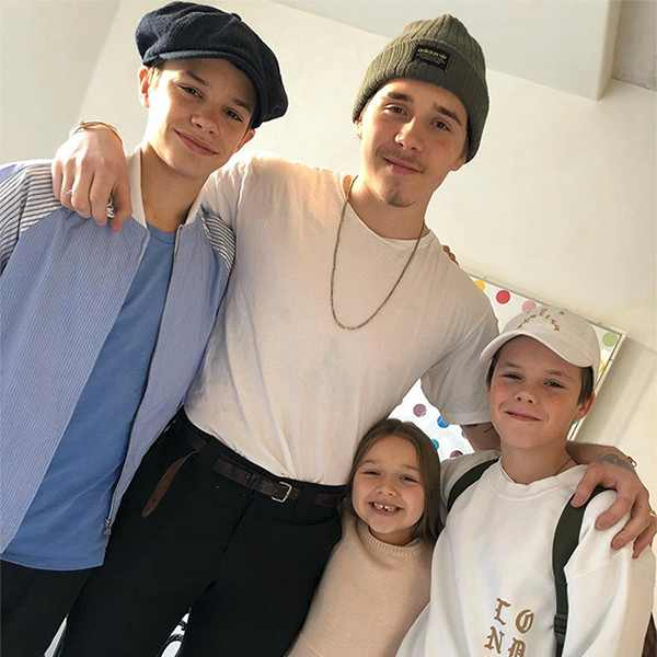 The Beckham babies are altogether again and their family is having a very merry Christmas.