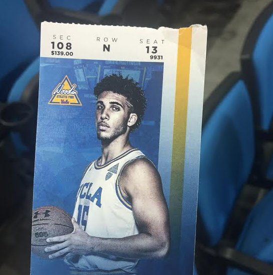 Tickets to UCLA's game today featured Gelo Ball �� https://t.co/fkbxQusqQ0 https://t.co/rPHVpnN4qe