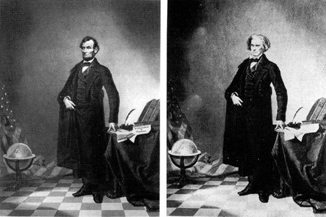 アブラハム・リンカーンの肖像画...