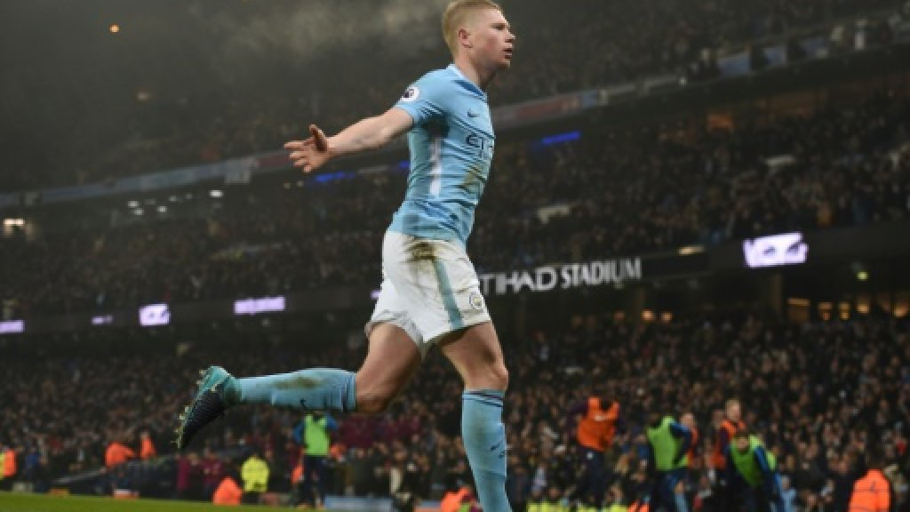 De Bruyne makes it sweet 16 for awesome Man City