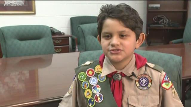 Boy Scout saves classmate's life in the cafeteria