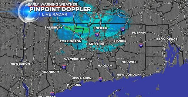 Southern and western CT may see snow showers on Saturday evening