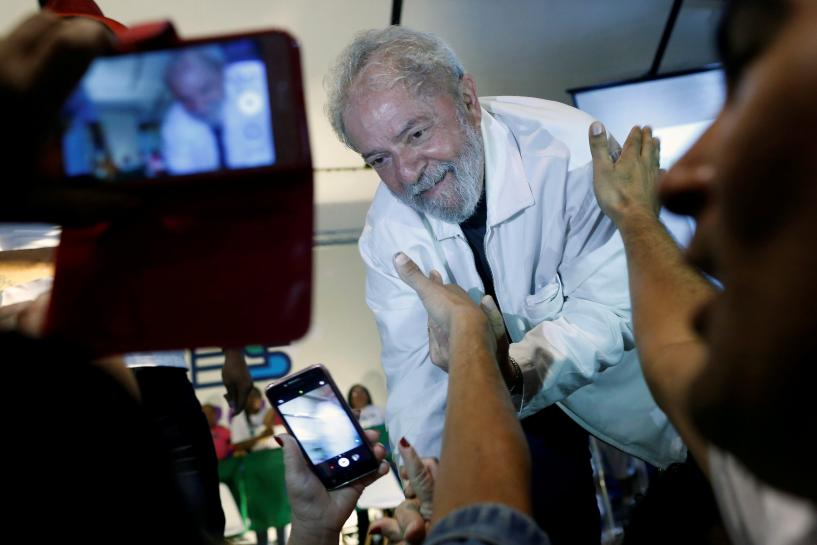 Brazil's Workers Party formalizes support for ex-president Lula