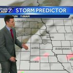Cooler Sunday, slight chance for light mix early south