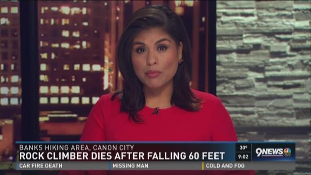 Rock climber dies after falling 60 feet