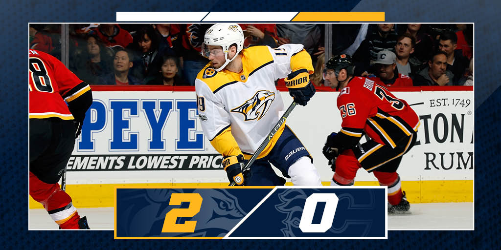 Another win, another shut out. ??  #Preds go 3-0 on the Western Canada road trip! #NSHvsCGY https://t.co/UOmB8cXE4V  #NSHvsCGY @PredsNHL
