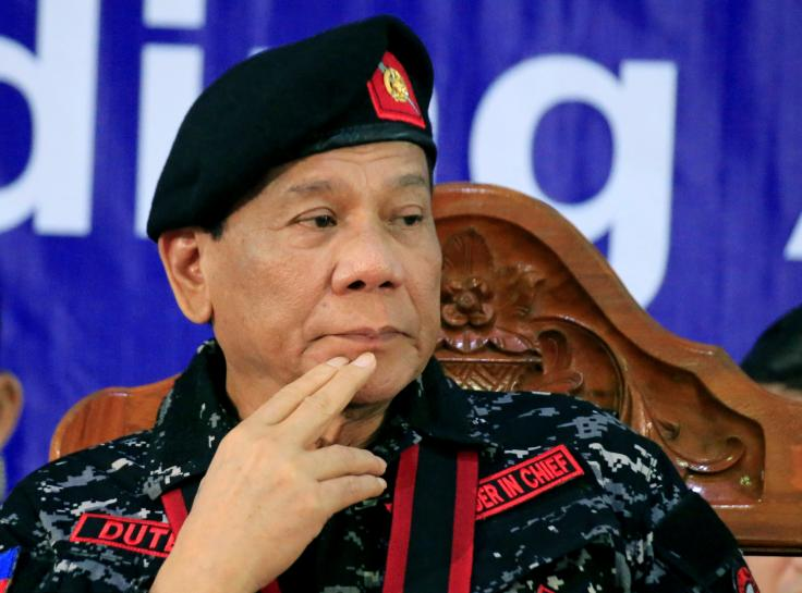 Philippines' Duterte, in about-face, says he supports same-sex unions