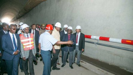 President Uhuru inspects Nairobi-Naivasha SGR tunnel, expresses satisfaction with progress