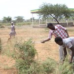 Landscaping underway as Baringo county invites Uhuru, Ruto for goat auction