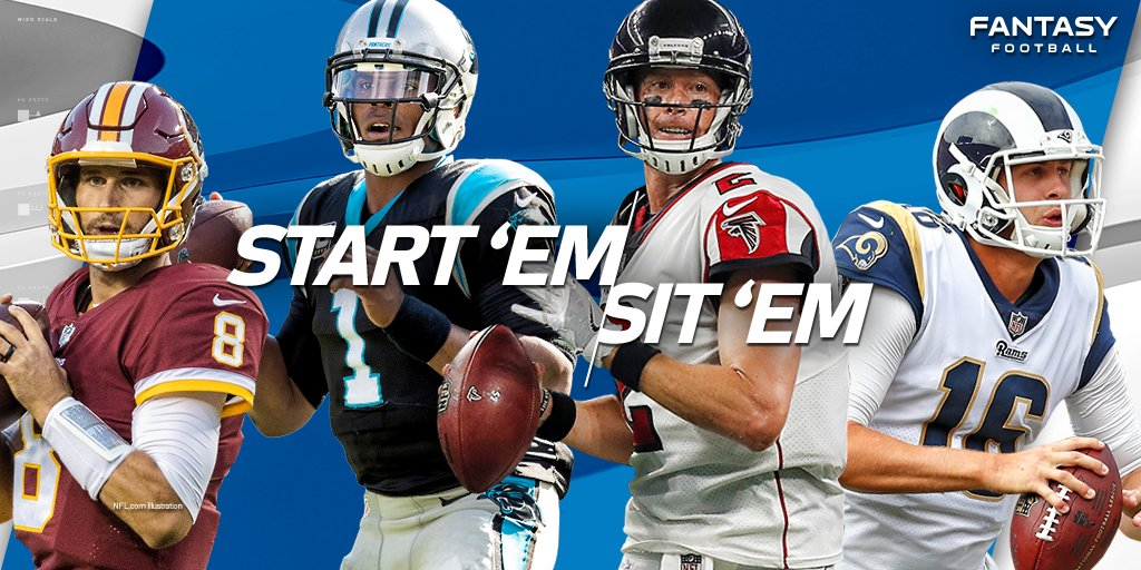 START: Cam Newton SIT: Matt Ryan  Start 'Em/Sit 'Em (QBs) in Week 15: https://t.co/CZukboNUyd (via @Michael_Fabiano) https://t.co/hsRD5P9bru