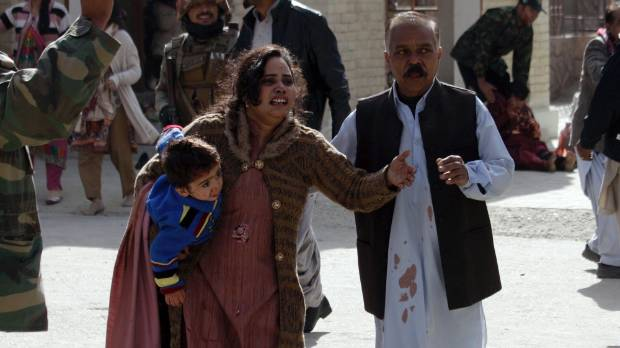 Suicide bombers attack church in Pakistan, killing at least eight