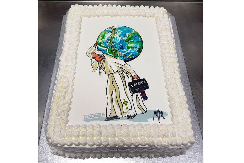 Cake for 'joyful' Pope Francis on his 81st birthday
