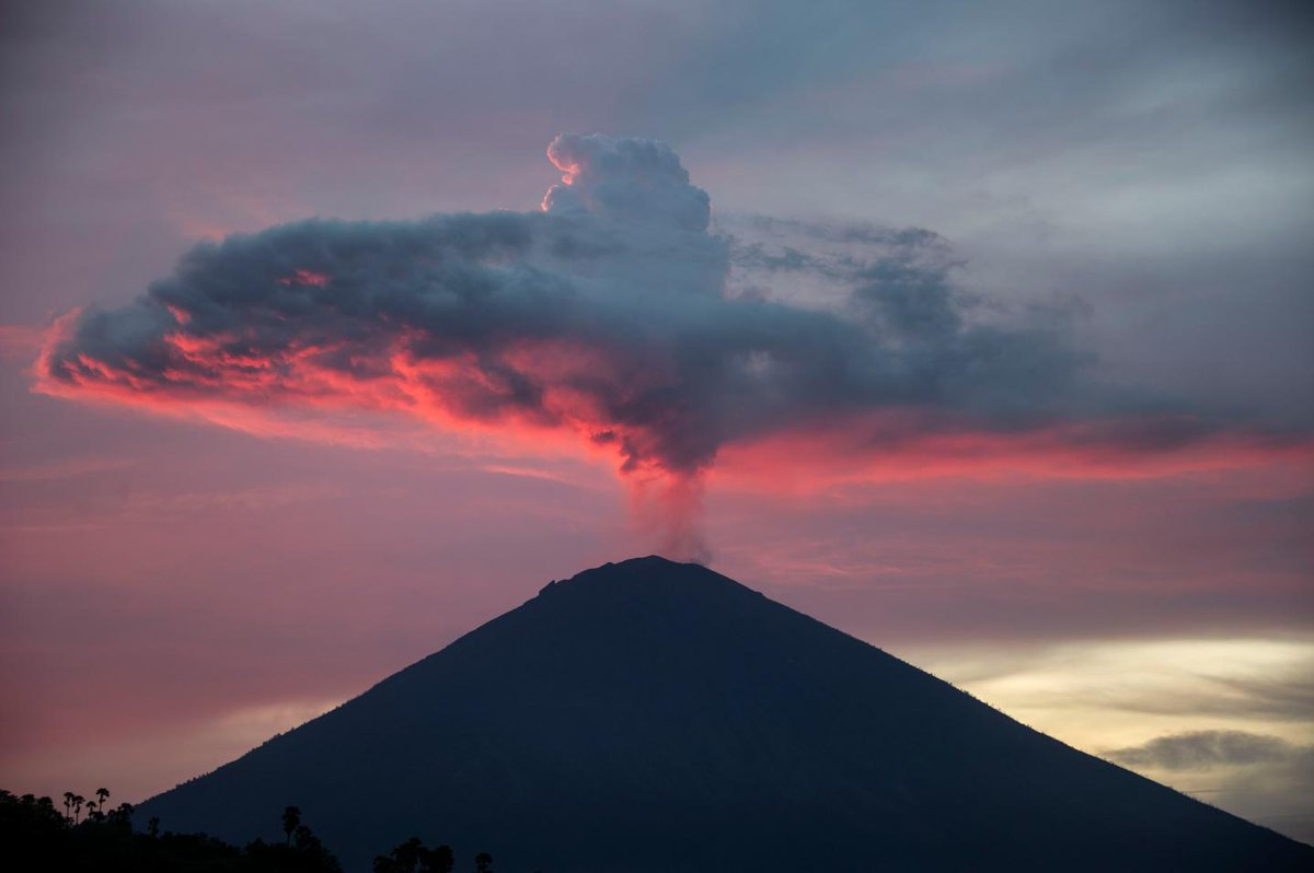 Giant volcano erupting in Bali could help predict future deadly lava flows