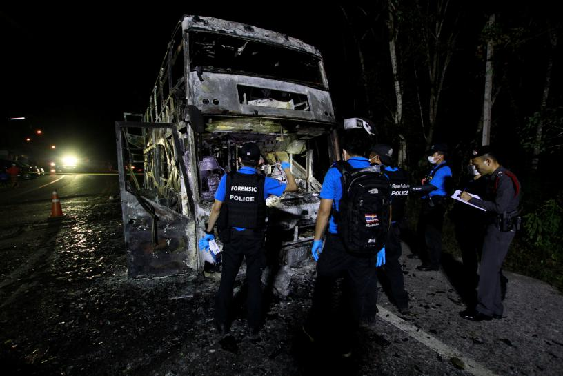 Insurgents burn bus in southern Thailand https://t.co/HBlSUQa5sP https://t.co/bzIRFlUBsJ