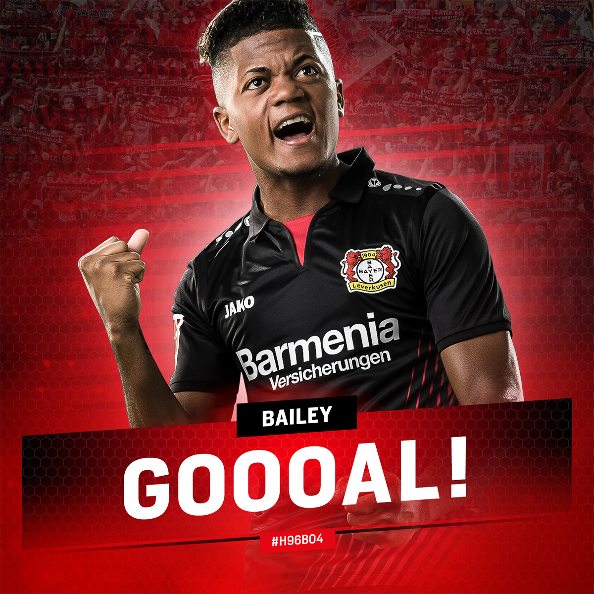 RT @bayer04_en: 47' GOOOOOAAAAL!!!  @leonbailey has been on the pitch or 2 minutes and we're level!!!  #H96B04 | 3:3 https://t.co/fUBYoYh4tl