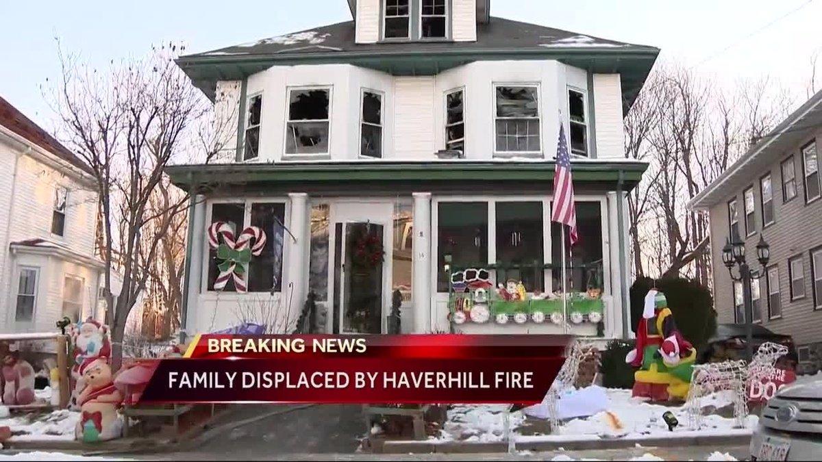 Fire tears through Haverhill home