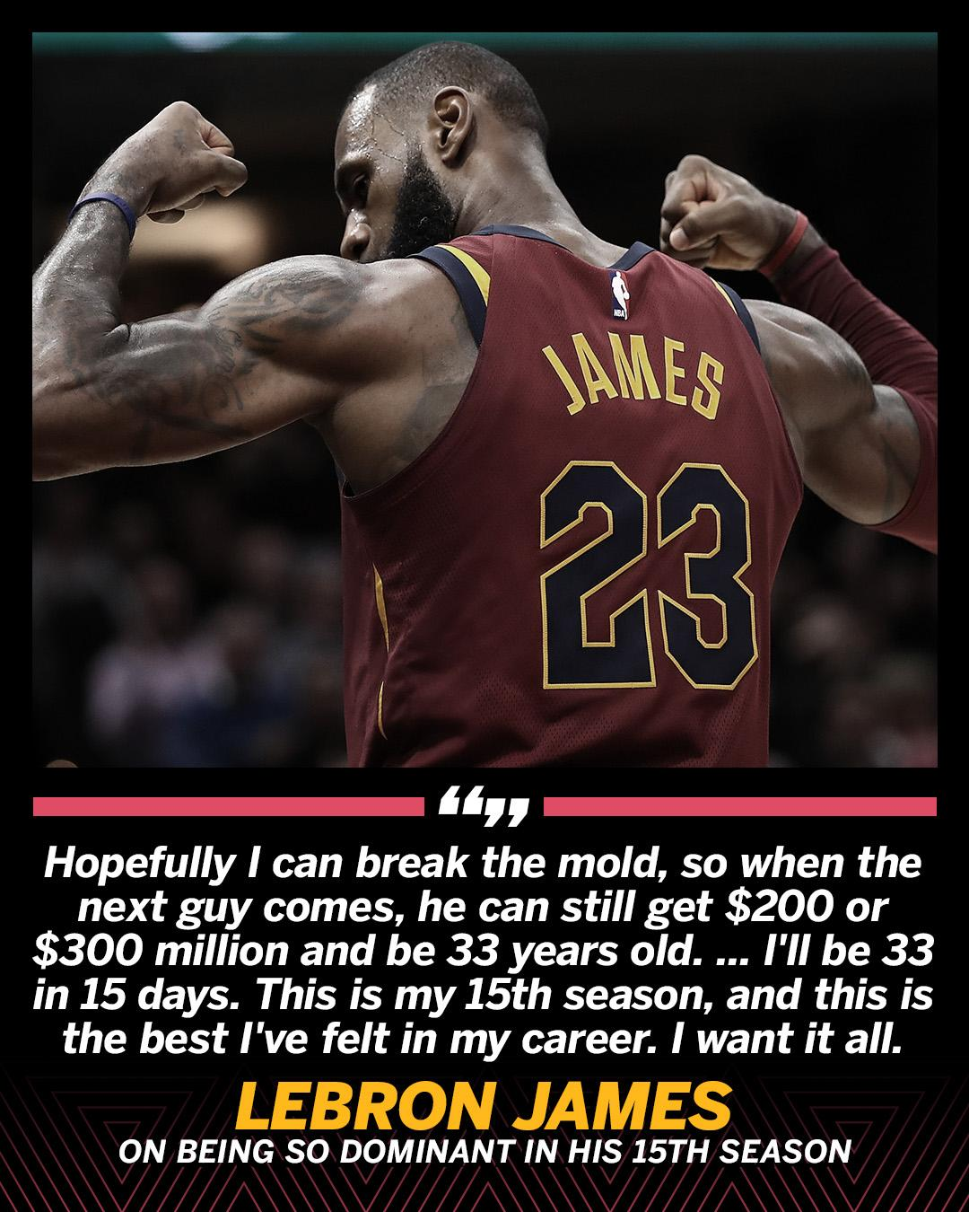 LeBron is not done breaking the mold. https://t.co/jN8HCvsD9p