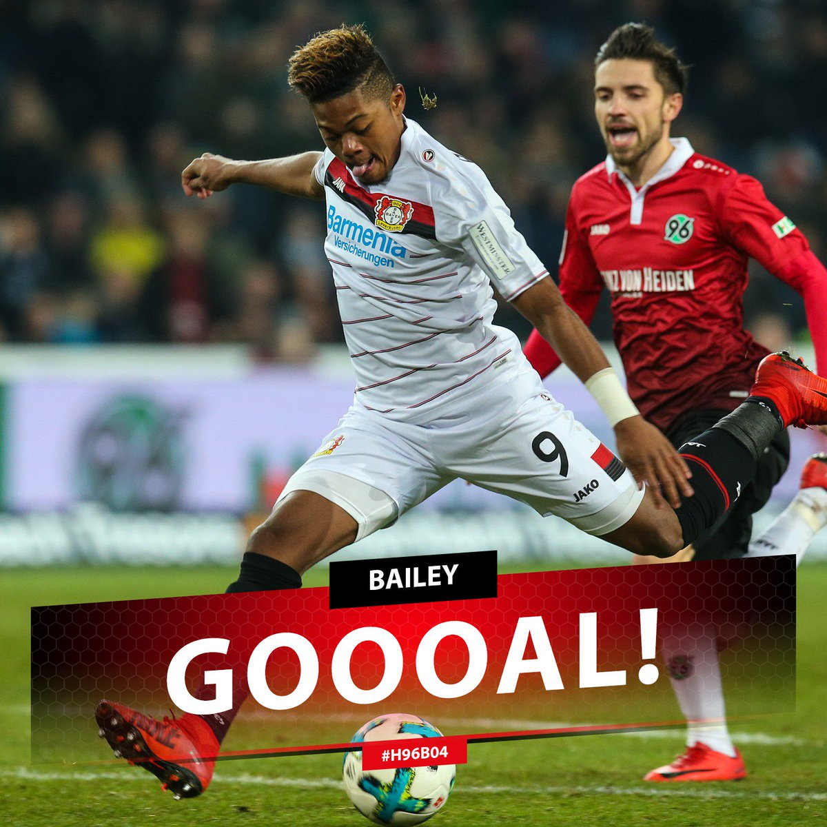 RT @bayer04_en: 67' GOOOOOAAAAL!!!!  It's a brace for @leonbailey!!! YESSS!!  #H96B04 | 3:4 https://t.co/Q6BOvtyiEh