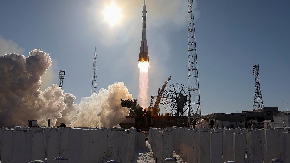Russian vessel blasts off for space station