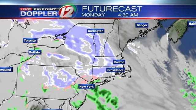 Chilly Day, Snow Showers Possible Tonight into Monday Morning