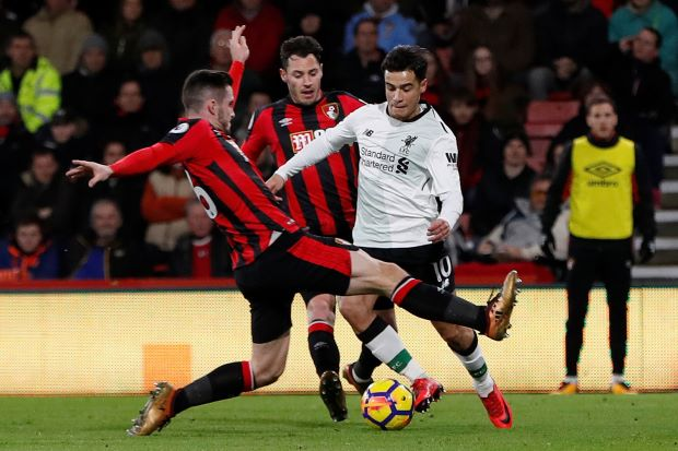Ruthless Liverpool put four past Bournemouth