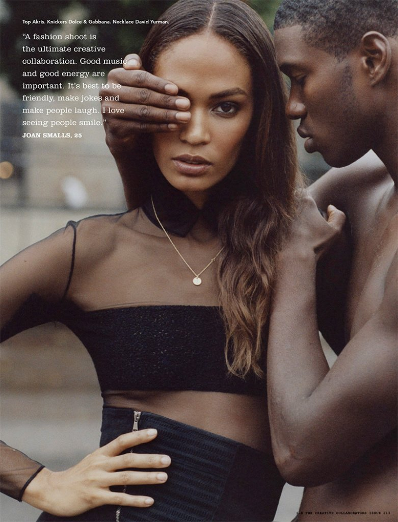 an agent once told joan smalls a model can't be black and have crooked teeth https://t.co/f4giAw26wC https://t.co/NdoXl2QyYO