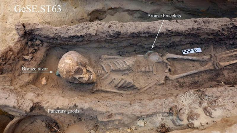Archaeologists discover child graves containing jewelry and amulets in temple quarry