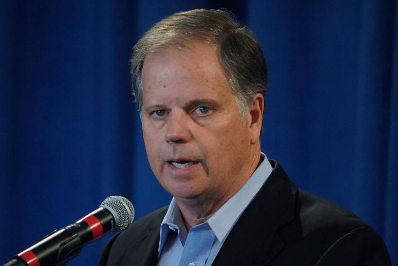 Senator-elect Jones not joining calls for Trump resignation